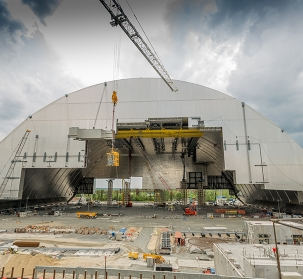 New Chernobyl containment arch