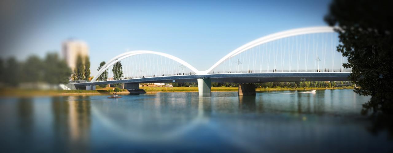Pont sur le Rhin à Strasbourg