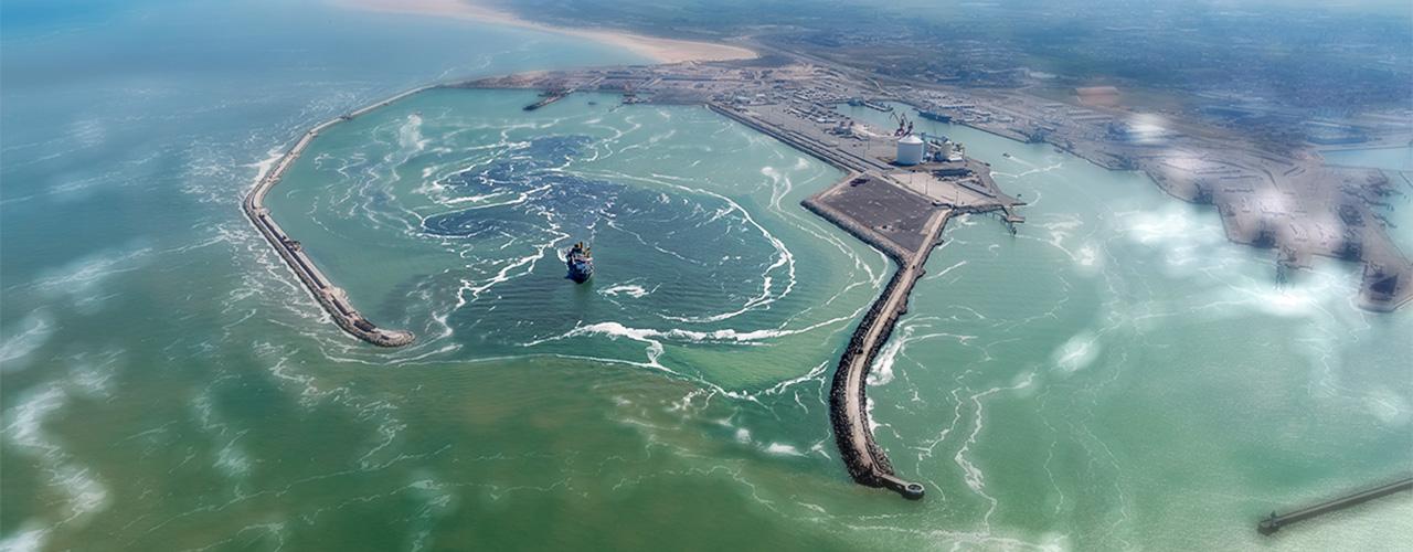 Extension en mer du Port de Calais